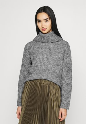 ROLL NECK JUMPER - Jumper - mottled grey
