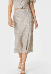 C&A - ARCHIVE - A-line skirt - coral - 0