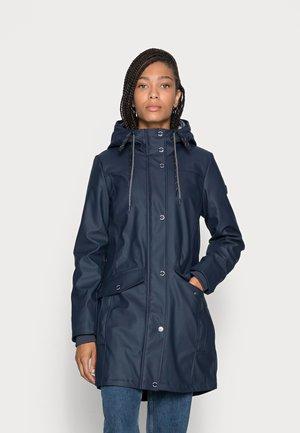 PADDED RAINCOAT - Waterproof jacket - sky captain blue