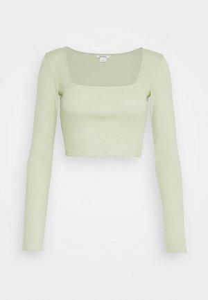 ALBA  - Top sdlouhým rukávem - green