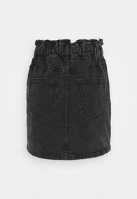 JDY - JDYSIGNE LIFE PAPERWAIST SKIRT - Denim skirt - black denim - 1