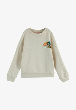 RELAXED FIT - Sweatshirt - off white melange