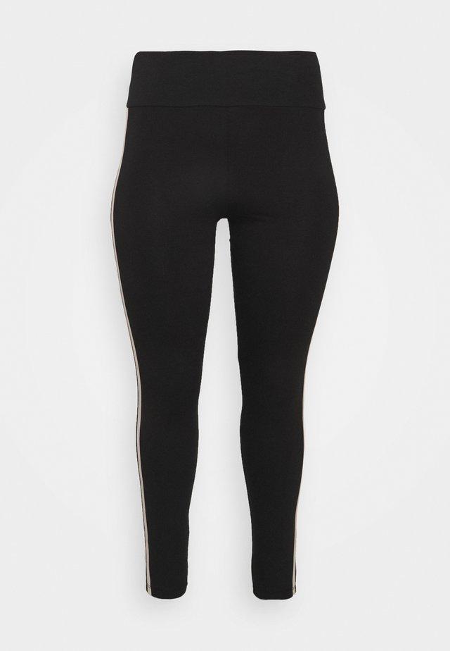 DOUBLE SIDE STRIPE - Leggings - Hosen - black