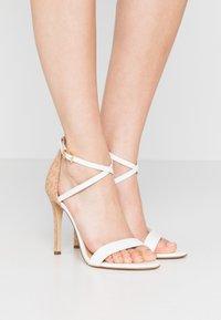MICHAEL Michael Kors - ANTONIA - High heeled sandals - optic white/multicolor - 0
