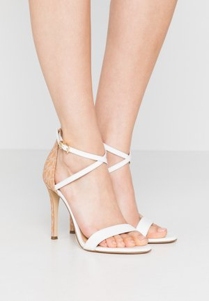 ANTONIA - High heeled sandals - optic white/multicolor