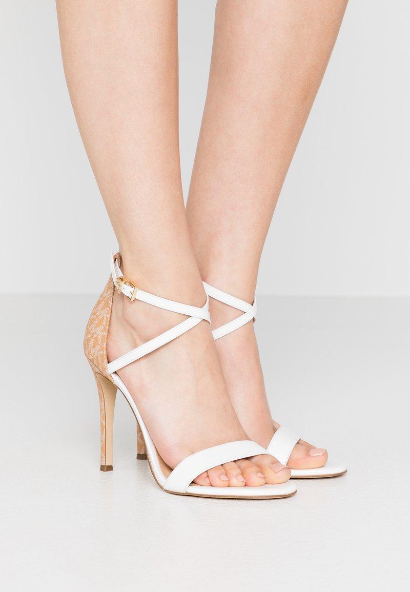 MICHAEL Michael Kors - ANTONIA - High heeled sandals - optic white/multicolor