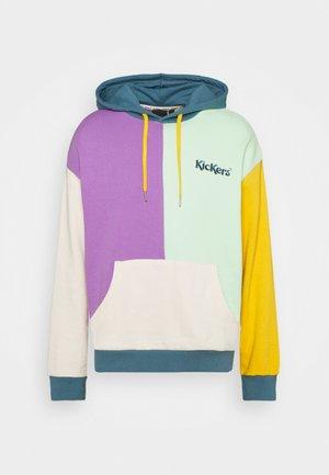 PATCHWORK HOODIE - Felpa - mint/beige/lavender