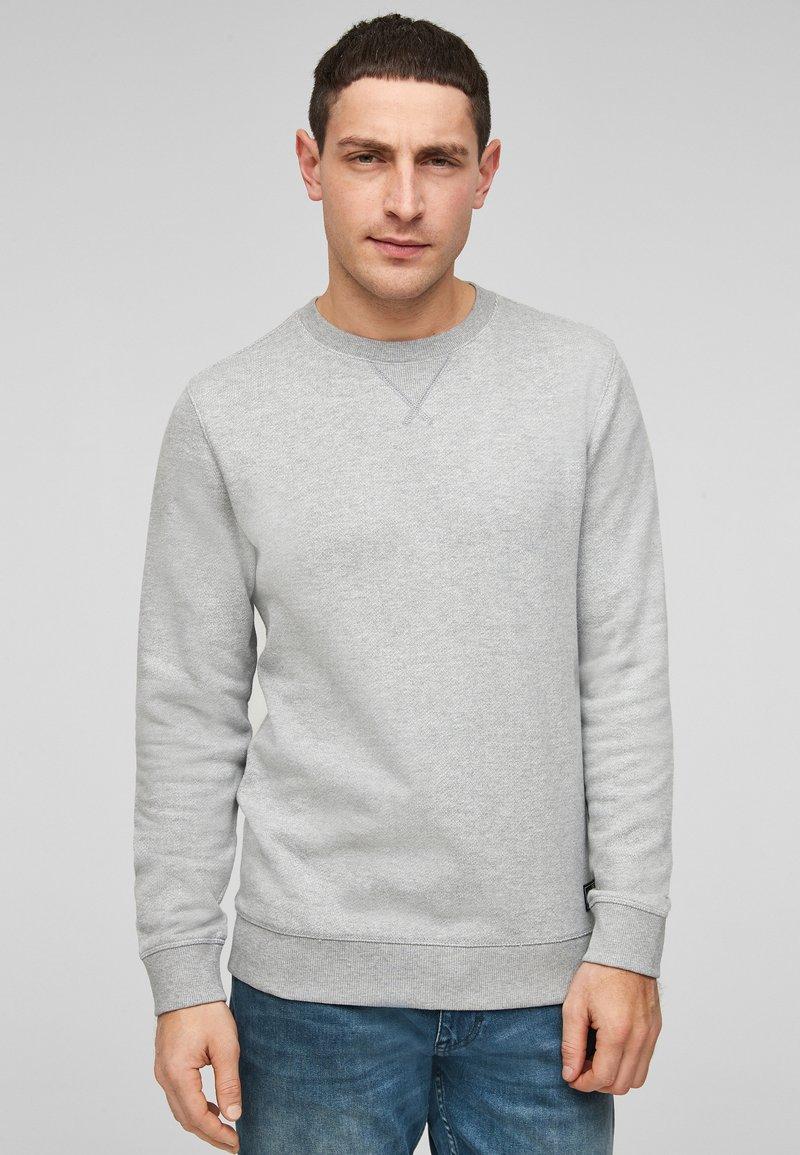 QS by s.Oliver - IM MELANGE-LOOK - Sweatshirt - grey melange