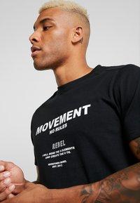 Redefined Rebel - SETH TEE - Print T-shirt - black - 3