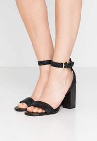 MICHAEL Michael Kors - PETRA ANKLE STRAP - High heeled sandals - black - 0