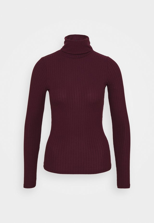 WIDE ROLL NECK - Longsleeve - dark burgundy