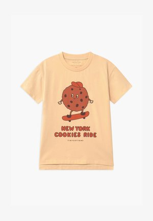 COOKIE RIDE TEE UNISEX - Triko s potiskem - cream/brown