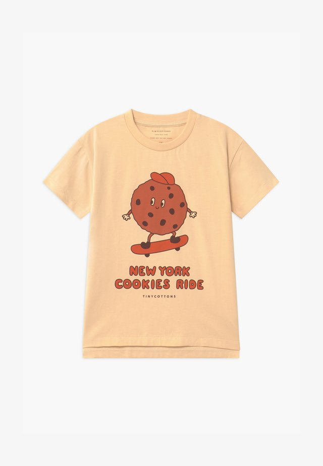 COOKIE RIDE TEE UNISEX - T-shirt imprimé - cream/brown