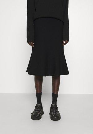 JUNEE - A-line skirt - black