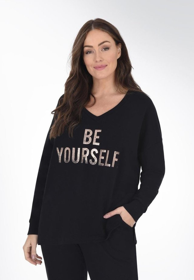 BE YOURSELF  - Bluza - black
