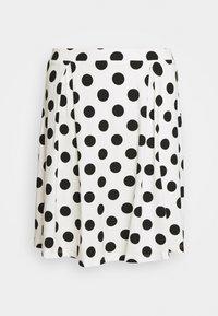 A-line skirt - off-white/black