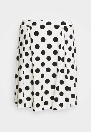 A-line skirt - off-white/black