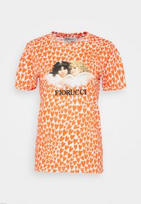 Fiorucci - VINTAGE ANGELS TEE HEARTS - T-shirt con stampa - orange/white - 0