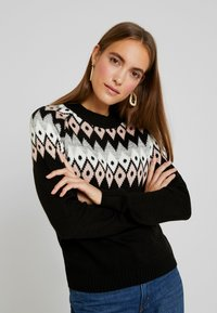 Anna Field - Strickpullover - black - 0