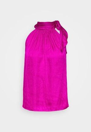 TIE NECK HALTER - Camicetta - hot bright pink