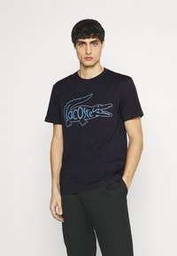 Lacoste - Print T-shirt - dark blue - 0