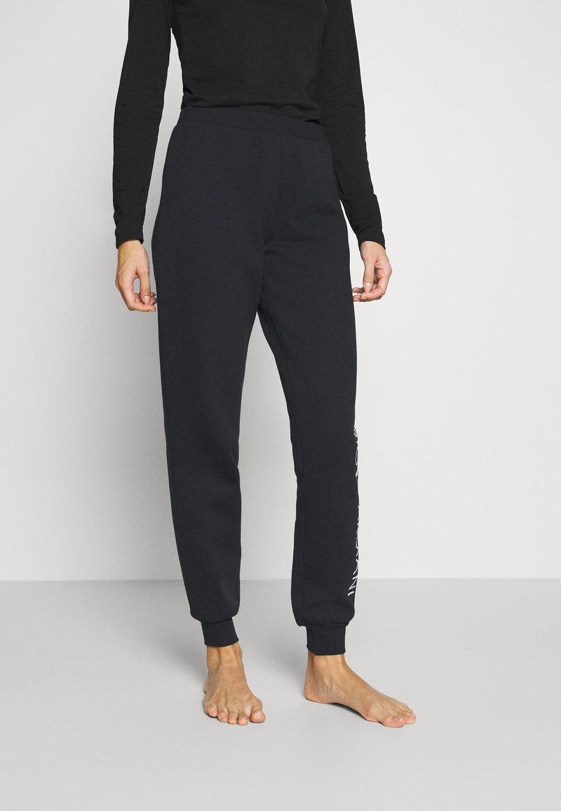 Emporio Armani - PANTS WITH CUFFS - Pyjama bottoms - nero