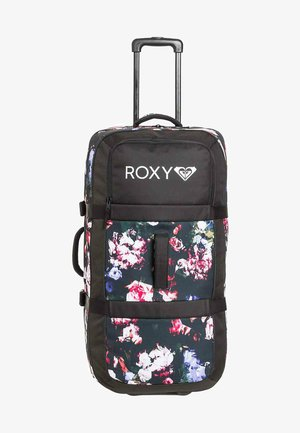Wheeled suitcase - true black blooming party