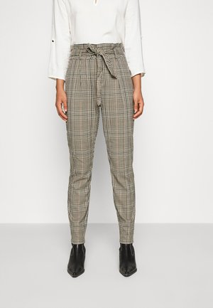 VMEVA PAPERBAG CHECK PANT - Trousers - tobacco brown