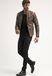 Freaky Nation - DAVIDSON - Leather jacket - wood - 1