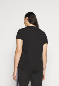 adidas Originals - TREFOIL TEE - Printtipaita - black/white - 2