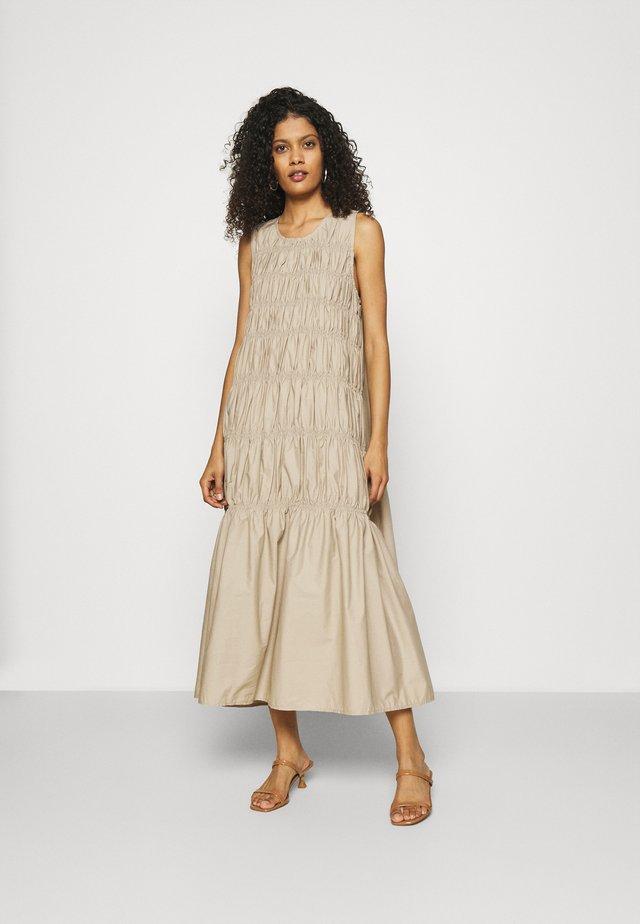 LENA LONG DRESS - Korte jurk - beige