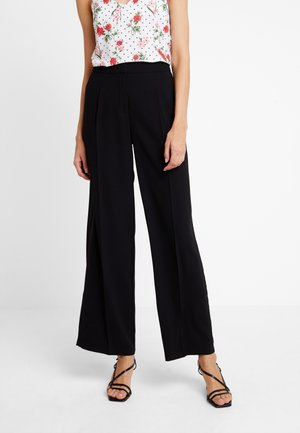 SLFTINNI WIDE PANT - Trousers - black