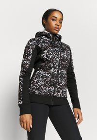 Roxy - FROST PRINTED - Fleece jacket - true black izi - 3