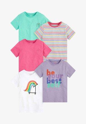 5 PACK - Print T-shirt - multi coloured