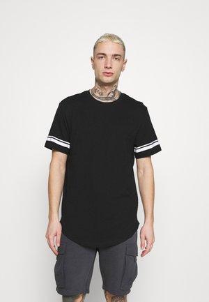 ONSMATT LIFE LONGY STRIPE - T-shirt med print - black