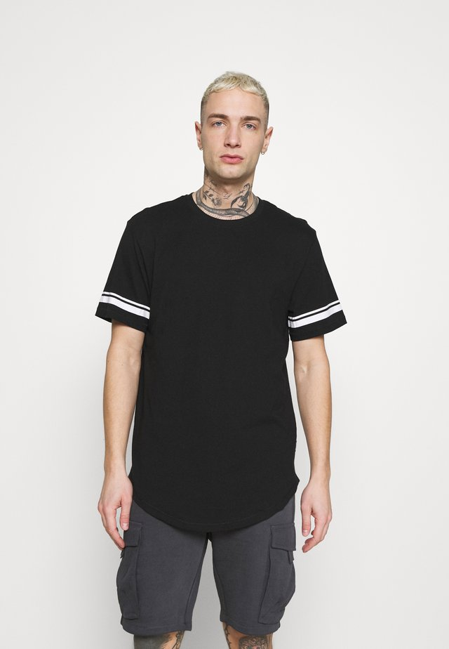 ONSMATT LIFE LONGY STRIPE - T-shirt con stampa - black