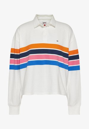CROPPED FIT LANGARM - Polo shirt - weiss