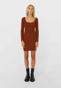 Stradivarius - Shift dress - brown - 1