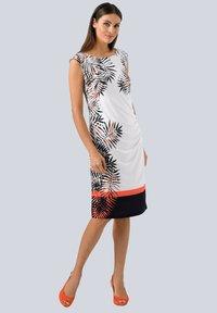 Alba Moda - Jersey dress - off-white schwarz orange - 1