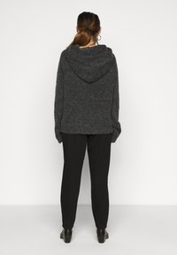 Noisy May Tall - NMWARREN HOODIE TALL - Pullover - dark grey melange - 2