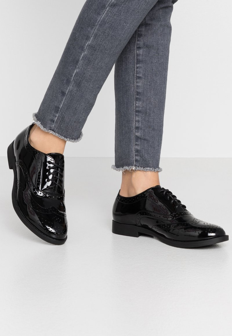 New Look Wide Fit - WIDE FIT JO - Lace-ups - black