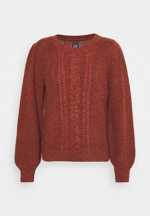 CABLE FASHION - Jumper - burnt russet