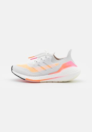 ULTRABOOST 21 - Zapatillas de running neutras - crystal white/acid orange