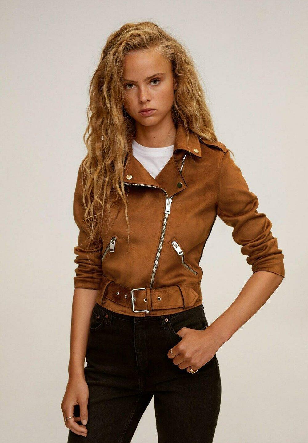 Mango Seul I Faux Leather Jacket Braun Brown Zalando De