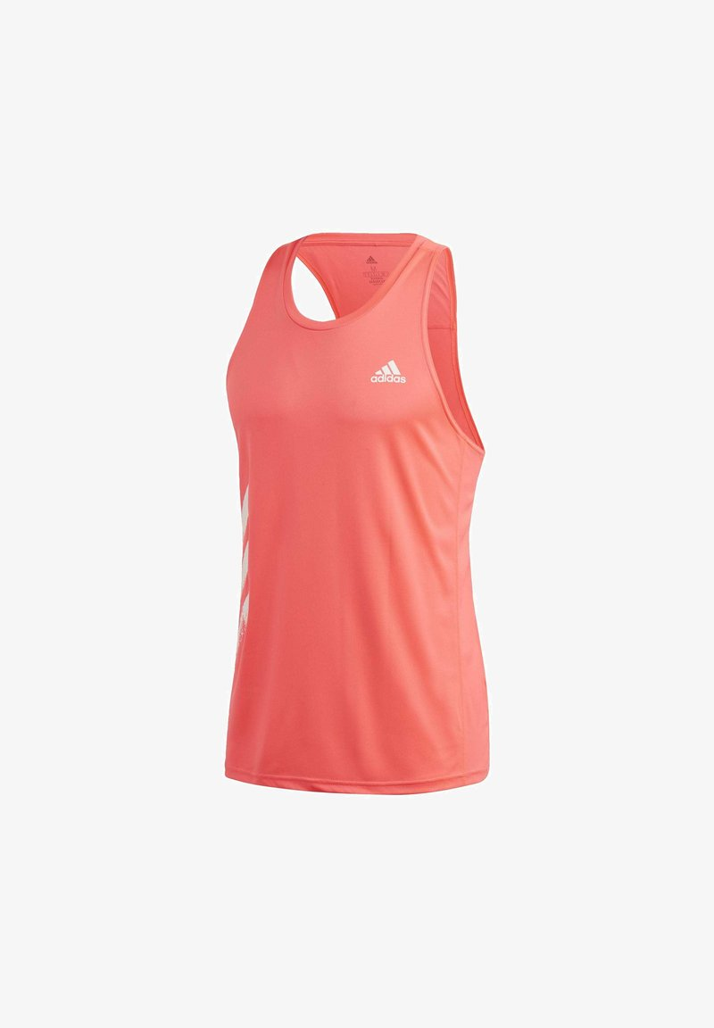 adidas Performance - OWN THE RUN 3-STRIPES PB SINGLET - Linne - pink