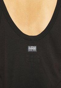 G-Star - MAXI TANK TOP DRESS - Jerseyjurk - dark black - 4