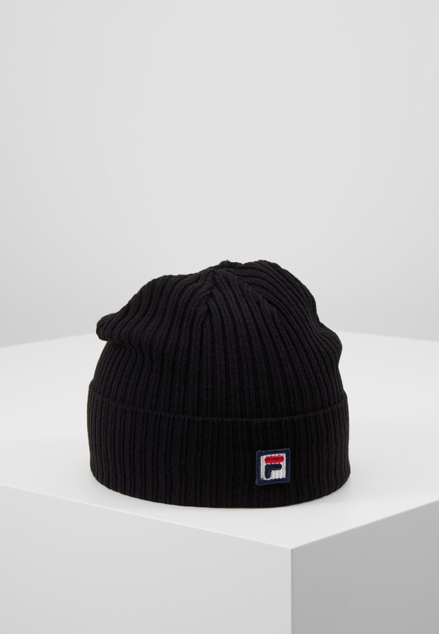 FISHERMAN BEANIE BOX - Mütze - black