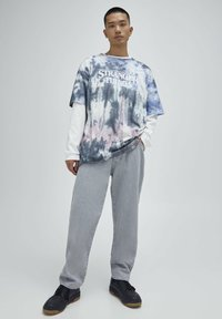 PULL&BEAR - Print T-shirt - blue - 1