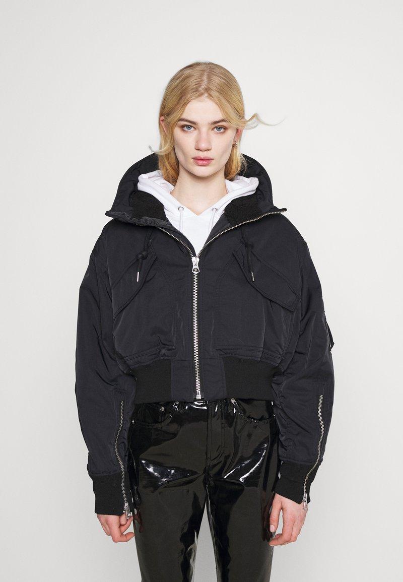 Weekday - REEVES JACKET - Light jacket - black solid