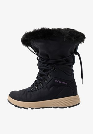 SLOPESIDE VILLAGE OMNI-HEAT - Śniegowce - extreme midnight/cyber purple
